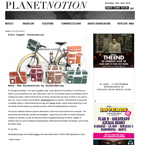 Planet Notion bag review of Goodordering