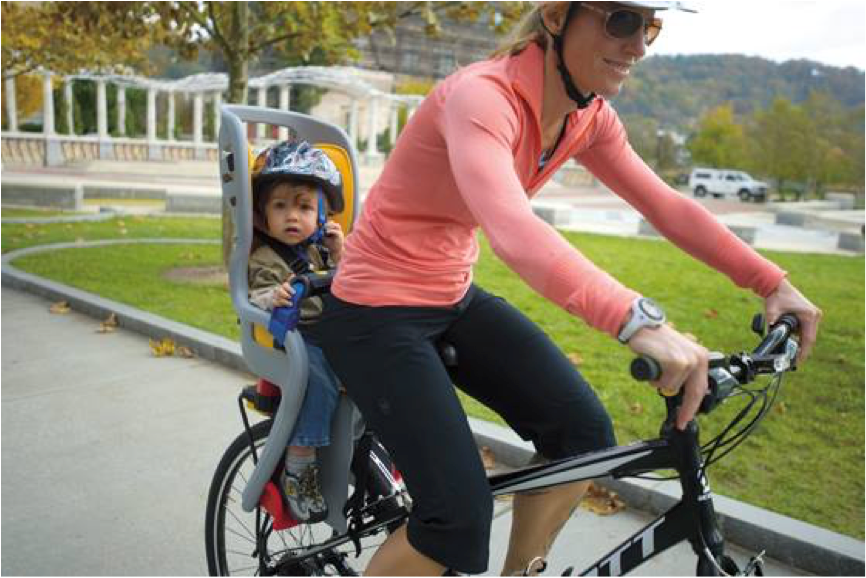 rear mounted kids bike seat