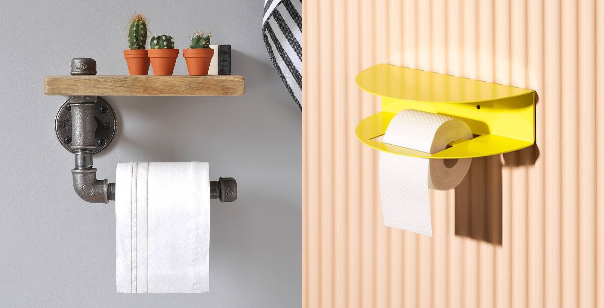 Toilet roll holder shelf