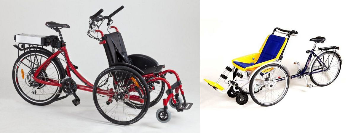 WHEELCHAIR TANDEM BICYCLE