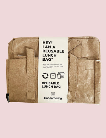 Goodordering sustainable reuseable tyvek lunch bag