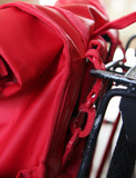 Monochrome Rolltop Backpack Pannier Red - Goodordering