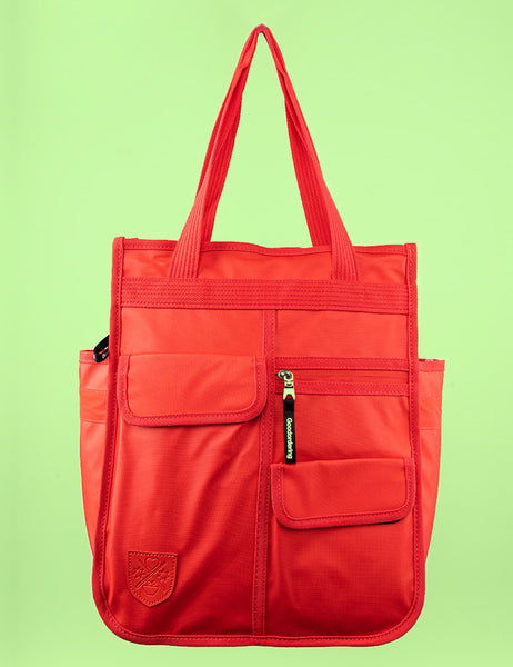 Monochrome Market Shopper Pannier Red