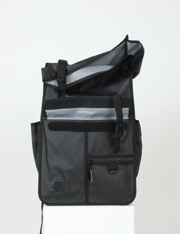 ECO Monochrome Rolltop Backpack Pannier Black
