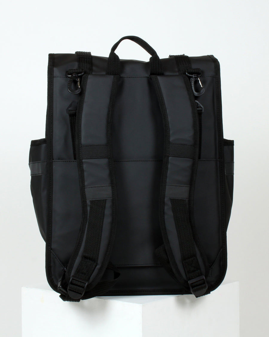ECO Monochrome Rolltop Backpack Pannier Black - Goodordering