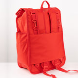 Monochrome Rolltop Backpack Pannier Red