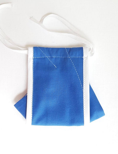 Reuseable face mask Adult - blue origami