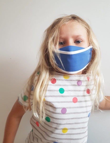Reuseable face mask child - Origami blue