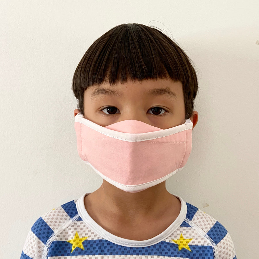 Reuseable face mask child Pink - Origami - Goodordering