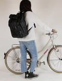 Monochrome Rolltop Backpack Pannier Black - Goodordering