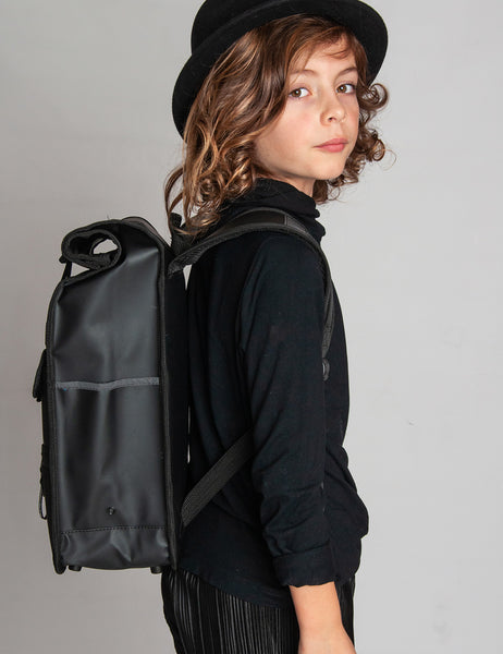 Monochrome Rolltop Backpack Mini Black - Goodordering