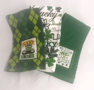 Happy St. Patrick's Day- Crochet Hanging Kitchen Towel