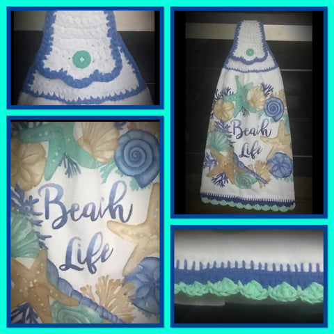 Life is a Beach - Hanging Kitchen Towel