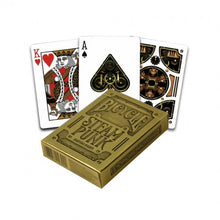 Load image into Gallery viewer, Steampunk gold poker deck