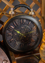 Load image into Gallery viewer, Round Steampunk bag with large clock