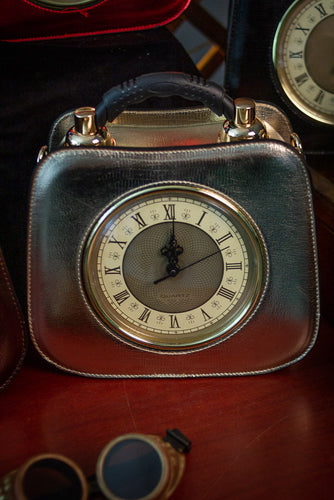Rectangular bag with small watch