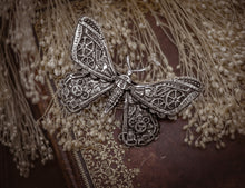 Load image into Gallery viewer, Mechanical Steampunk Moth Hair Clip