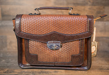 Load image into Gallery viewer, Vintage Handbag in Honky Tonk leatherette