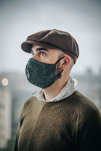 Steampunk Green, Red or Purple Brocade Face Mask, Reusable Non-woven Fabric, Double Layer and Filter Pocket