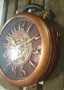 Round Steampunk bag with large clock