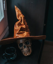 Load image into Gallery viewer, Witch or wizard leather hat dark academia
