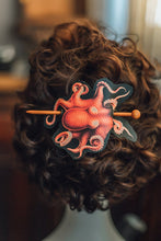 Load image into Gallery viewer, Vegan Leather Octopus Hair Barrette