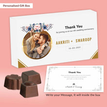Load image into Gallery viewer, White modern design customised chocolates return gift
