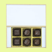 Load image into Gallery viewer, White modern box of customised chocolates gift