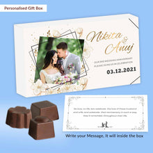 Load image into Gallery viewer, Geometrical framed golden Printed Customised Anniversary invitation