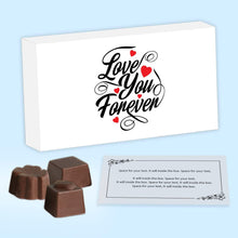 Load image into Gallery viewer, Print love you forever on personalised chocolate boxes