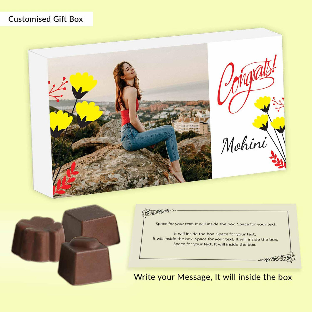 Buy Best Personalised Chocolate to say Congratulations