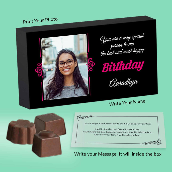 customised chocolate gifts for chocolate lover's birthday - ChocoManualART.com