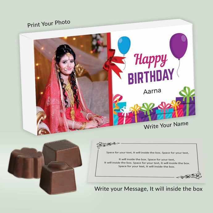 Customised boxes of chocolates with special message - ChocoManualART.com