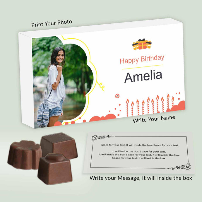 customised chocolates box with photo and name printed on it - ChocoManualART.com