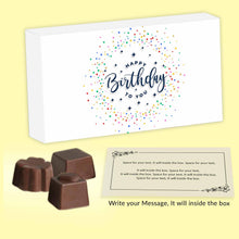 Load image into Gallery viewer, customized chocolates with meaningful message inside the box - ChocoManualART.com