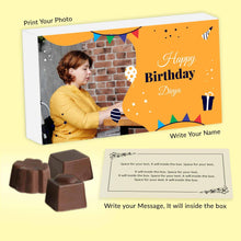 Load image into Gallery viewer, personalised chocolates with photo printed box - ChocoManualART.com