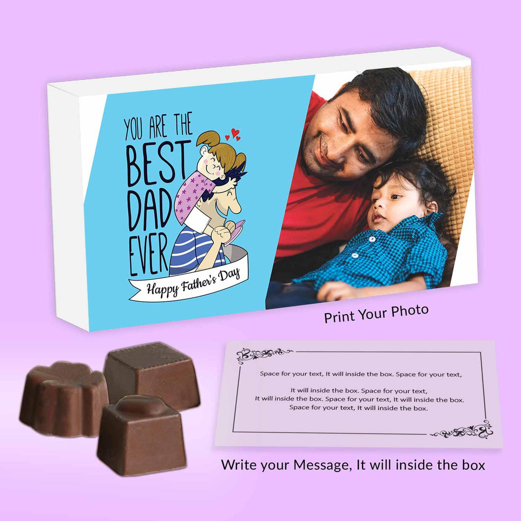 Best dad ever Customised Chocolate box for father's day | Choco ManualART