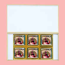 Load image into Gallery viewer, Colourful modern holi gift personalised wrapped chocolates