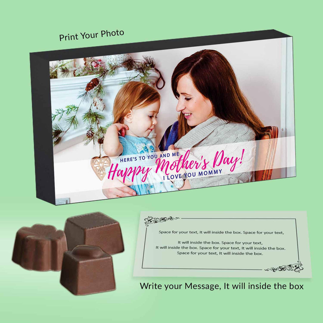 Photo Printed box of Customised Chocolates on Mother's day