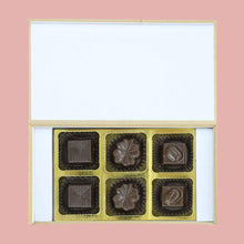 Load image into Gallery viewer, Pink & Blue decorative box of chocolates to announce twin's birth