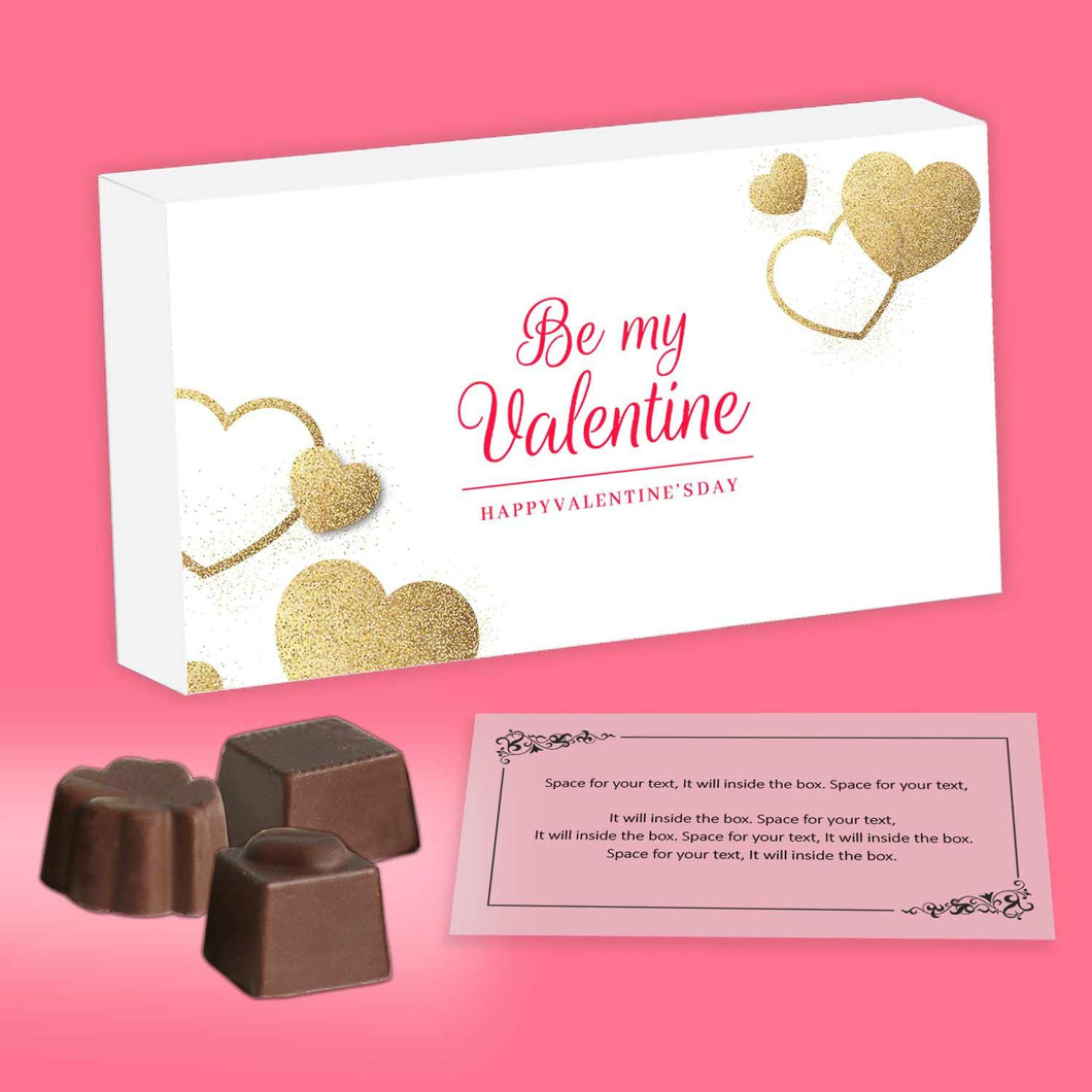 customised chocolates with a romantic message