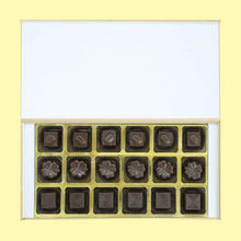 Load image into Gallery viewer, personalized chocolates of different shapes with printed box