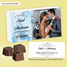 Load image into Gallery viewer, Splash blue watercolor texture customised wedding invite