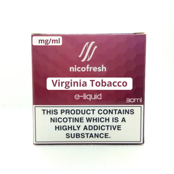 30ml Virginia Tobacco - Nicofresh (3x10ml)