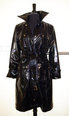 Faux Leather Trench with Removable Liner