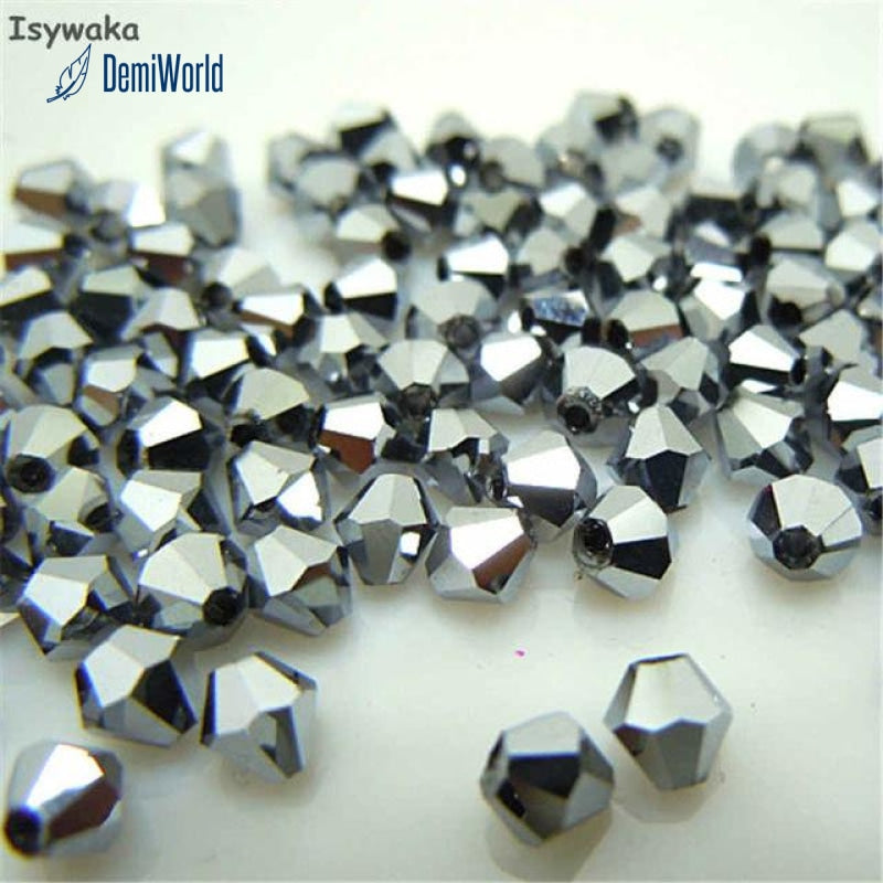4mm 100pcs Austria Crystal Bicone Beads Loose Crystal Beads Jewelry Making