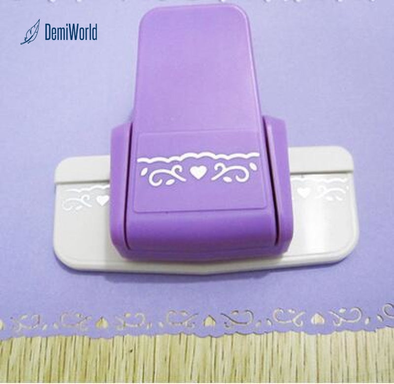 Fancy border punch S flower design embossing punch scrapbooking handmade edge de