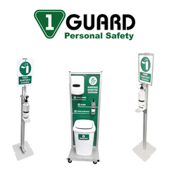 1Guard Sanitiser Dispenser Stands and Stations