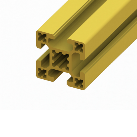 40 x 40 SlotPro 4 Slot Standard Extrusion Powder Coated Yellow