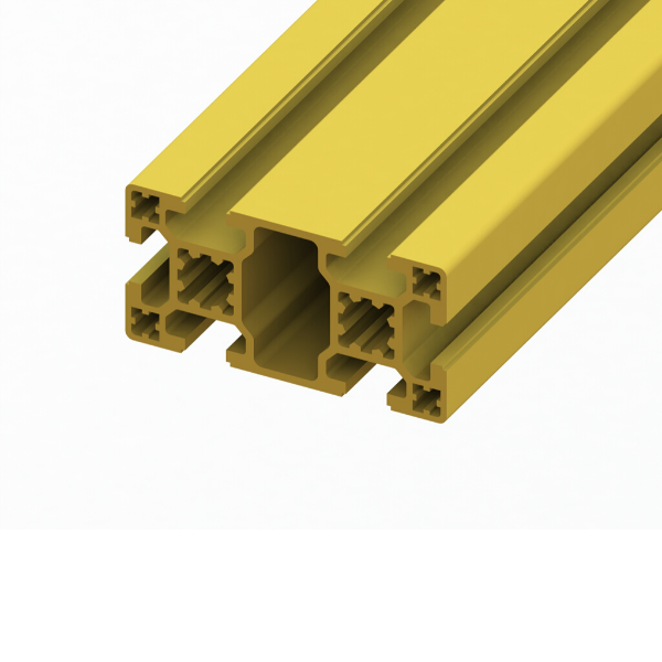 40 x 80 SlotPro 6 Slot Standard Extrusion Powder Coated Yellow